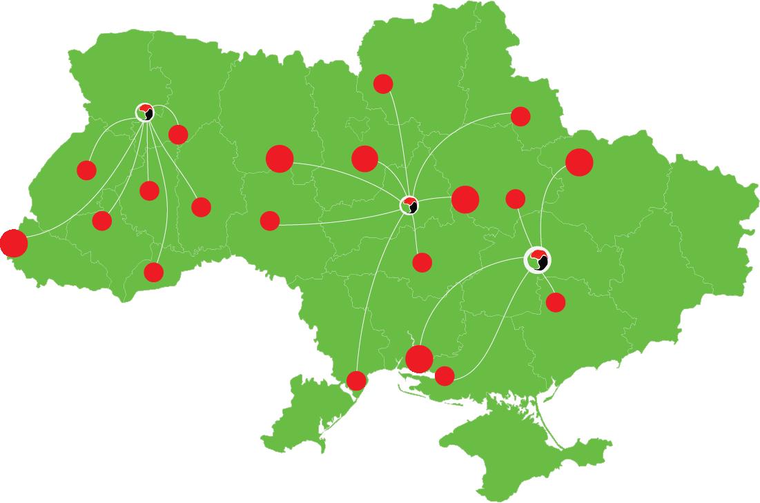 карта украины логистика Триады